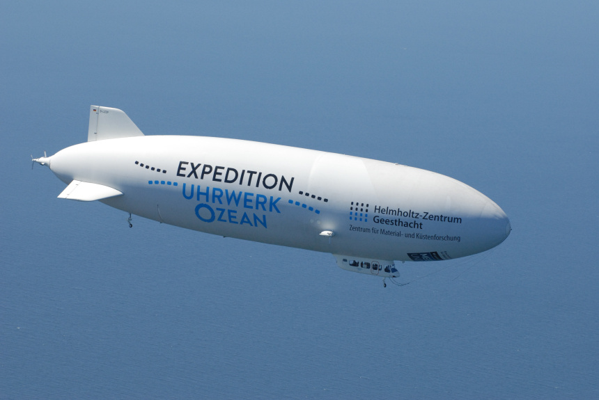 Das Zeppelin der Expedition Uhrwerk Ozean